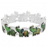 Abalone Elephant Bracelet
