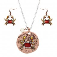 Crab Necklace Set