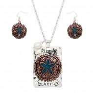 Sand Dollar Necklace Set