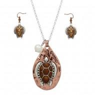 Sea Turtle Necklace Set