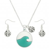 Ocean Wave Necklace Set
