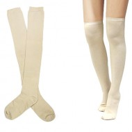 "Cotton Over Knee Socks 25"""