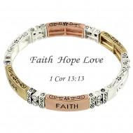 Faith Hope Love Bracelet
