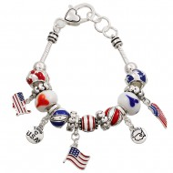 USA Multi Beads Bracelet
