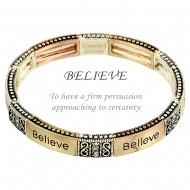 Believe Message Bracelet