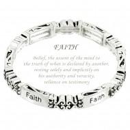 Faith Message Bracelet