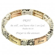 Pray Message Bracelet
