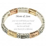 Mom & Son Message Bracelet