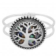 Tree of Life Abalone Bangle