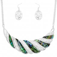 Abalone Necklace Set