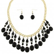 Onyx Stone Necklace Set