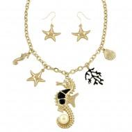 Sea Life Necklace Set