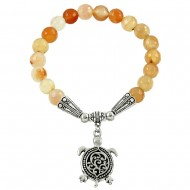 Apricot Agate Stone Bracelet