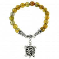Yellow Dragon Agate Bracelet