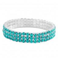 Rhinestone Elastic Bracelet