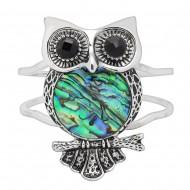 Abalone Owl Bracelet