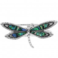 Dragonfly Abalone Bangle