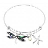 Dragonfly Abalone Bracelet