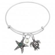 Palm Tree  Abalone Bracelet