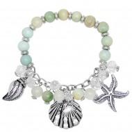 Sea Life Gemstone Bracelet