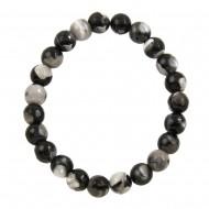 Black White Agate Bracelet