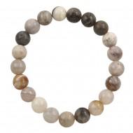 Grey Bamboo Agate Bracelet