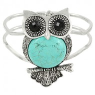 Owl Gemstone Bangle