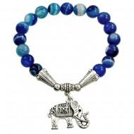 Blue Agate Stone Bracelet