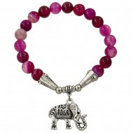 Fuchsia Agate Bracelet