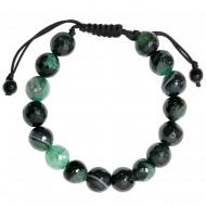 Black Blue Agate Bracelet