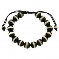 Zebra Marble Stone Bracelet