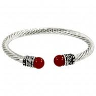 Red Agate Stone Bracelet