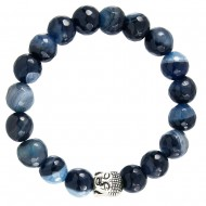 Black Blue Agate Bracelet