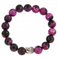 Black Fuchsia Agate Bracelet