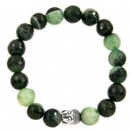Black Green Agate Bracelet