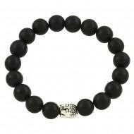 Fog Black Agate Bracelet