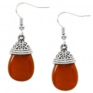 Red Agate Earring