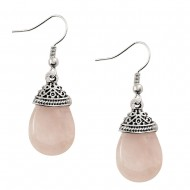 Rose Quartz Stone Earring