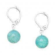 Aquamarine Agate Earring