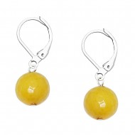Yellow Agate Earring