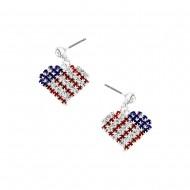 American Flag Earring