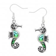 Seahorse Abalone Earring