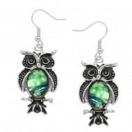 Owl Abalone Earring