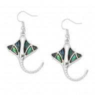 Manta Ray Earring