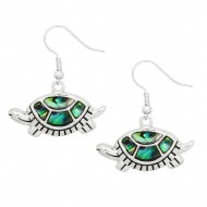 Turtle Abalone Earring