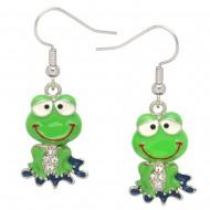 Green Frog Earring