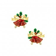 Christmas Ring Bell Earring
