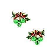 Christmas Ring Earring