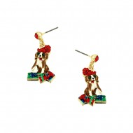 Christmas Dog Earring