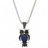 Owl Gemstone Necklace